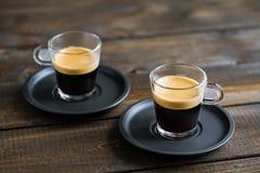 Dois copos do café Imagem de Stock Royalty Free