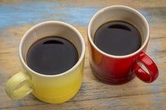 Dois copos do café do café Foto de Stock Royalty Free