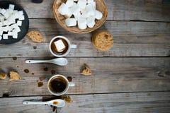 Dois copos do café quente Foto de Stock