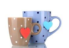 Dois copos e sacos de chá Fotografia de Stock Royalty Free
