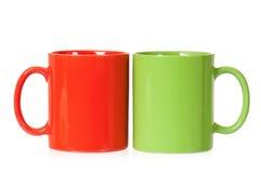 Dois copos para o chá Imagem de Stock Royalty Free