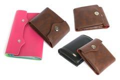 Dois cor-de-rosa e carteiras marrons Foto de Stock Royalty Free