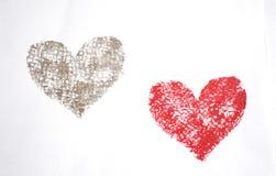 Dois corações Foto de Stock Royalty Free