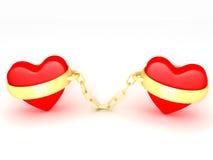 Dois corações Foto de Stock