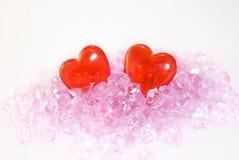 Dois corações. fotografia de stock