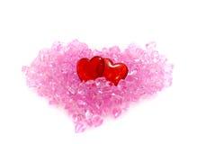 Dois corações. imagens de stock royalty free