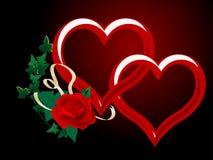 Dois corações Imagem de Stock Royalty Free