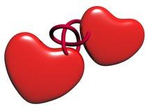 Dois corações Fotografia de Stock