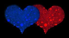 Dois corações. ilustração stock