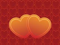Dois corações Ilustração do Vetor