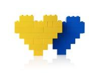 Dois corações Imagens de Stock