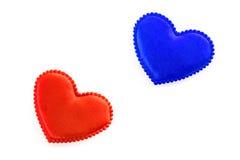 Dois corações Fotos de Stock