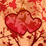 dois-corações Fotos de Stock