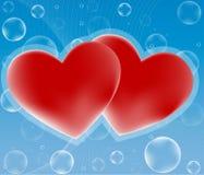 Dois corações fotos de stock royalty free