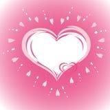 Dois corações ilustração royalty free