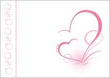 Dois corações. AI Foto de Stock