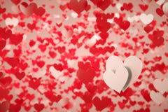 Dois corações brancos imagens de stock royalty free