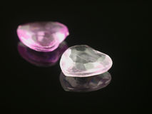 Dois corações brilhantes pequenos Foto de Stock