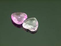 Dois corações brilhantes pequenos Fotografia de Stock Royalty Free