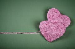 Dois corações cor-de-rosa Imagem de Stock Royalty Free