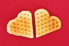 Dois corações do biscoito Fotografia de Stock Royalty Free