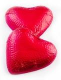 Dois corações do chocolate Foto de Stock
