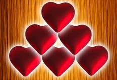 Dois corações do Natal Fotografia de Stock