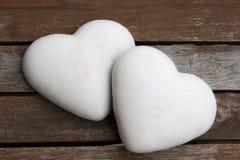 Dois corações do pão-de-espécie Imagem de Stock Royalty Free