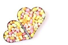 Dois corações dos doces Fotografia de Stock