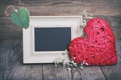Dois corações e quadros-negros Imagens de Stock Royalty Free