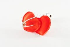 Dois corações encadernados Imagem de Stock