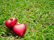 Dois corações loving com copyspace Imagem de Stock Royalty Free
