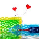Dois corações no amor   Ilustração Stock