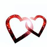 Dois corações no branco Imagem de Stock Royalty Free