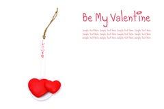 Dois corações no spoonful do amor Imagens de Stock Royalty Free