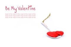 Dois corações no spoonful do amor Fotos de Stock