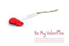 Dois corações no spoonful do amor Foto de Stock Royalty Free