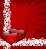 dois corações unidos Imagem de Stock