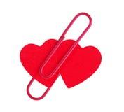 Dois corações vermelhos Fotografia de Stock Royalty Free