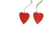 Dois corações vermelhos Foto de Stock