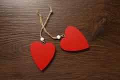 Dois corações vermelhos Imagem de Stock