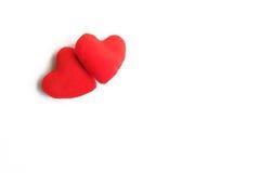 Dois corações vermelhos Imagem de Stock Royalty Free