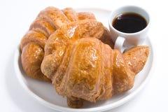 Dois croissants Foto de Stock