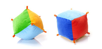 Dois cubos macios da cor Imagem de Stock Royalty Free