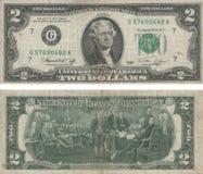 Dois dólares Fotos de Stock Royalty Free