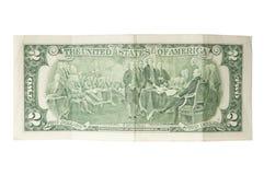 Dois dólares Bill Imagens de Stock
