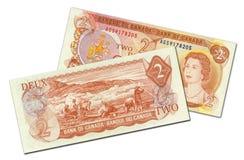 Dois dólares canadianos de nota de banco fotografia de stock royalty free