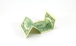 Dois dólares no fundo branco Imagens de Stock Royalty Free