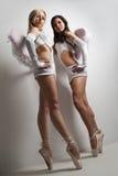 Dois dançarinos de bailado fêmeas profissionais imagem de stock royalty free