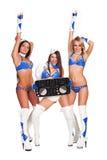 Dois dançarinos e mulher DJ Imagem de Stock Royalty Free